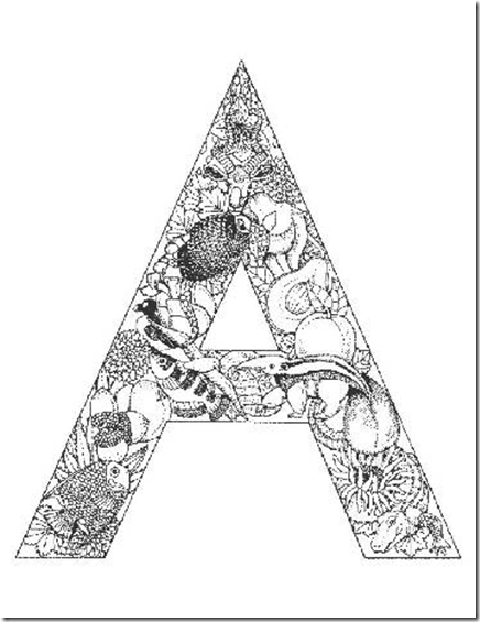alphabet letter coloring pages - 4 Year Old Coloring Pages