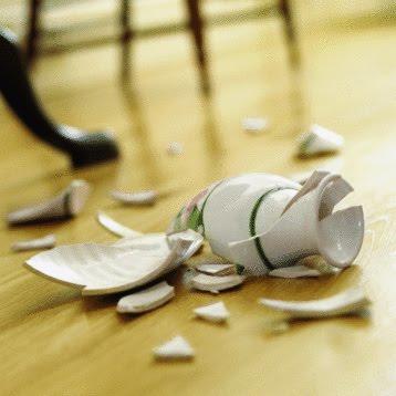 China broken vase
