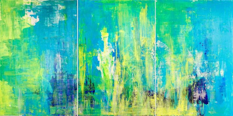 Liberty 2012, Mixed Media on Canvas, 120 x 240 cm
