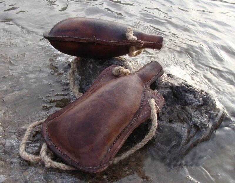 Leather-wine-skin