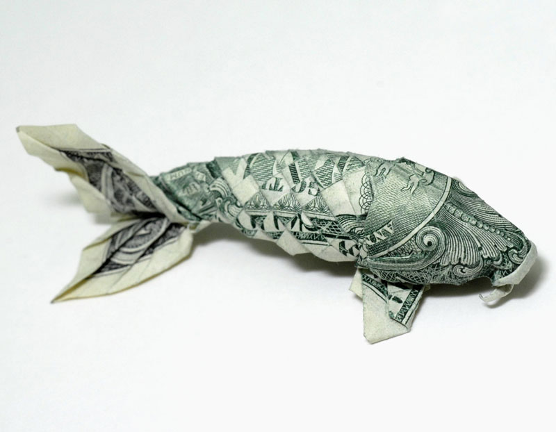Koi-fish-made-from-dollar-bill-origami-by-won-park